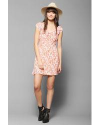 Kimchi Blue - Empirewaist Floral Mini Dress - Lyst