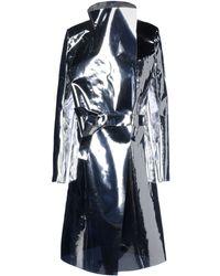 Gareth Pugh Silver Raincoat - Lyst