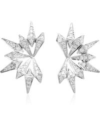 Karma El Khalil - White Gold And Diamond Starburst Earrings - Lyst