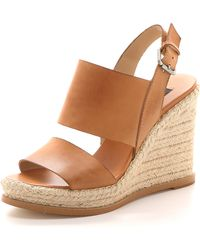 Steven By Steve Madden Stunner Espadrille Wedge Sandals Natural - Lyst