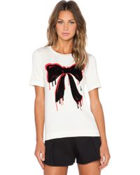 Love Moschino Bow Tee multicolor - Lyst