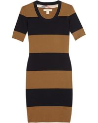 Burberry Brit Knitted Cottonblend Striped Dress - Lyst