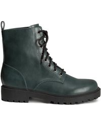H&M Lace-Up Boots - Lyst
