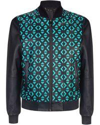 Versace Graphic Patterned Bomber Jacket - Lyst