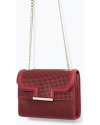 Zara Perforated Messenger Bag - Lyst