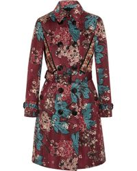 Burberry Prorsum - Embroidered Floral-print Cotton-blend Trench Coat - Lyst