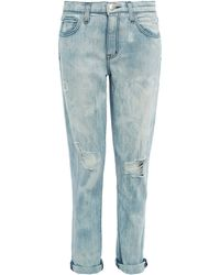 Current/Elliott Light Blue Slouch Mid-Rise Boyfriend Jeans - Lyst