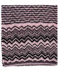 Missoni Combination Multi Zigzag and Straight Stripe Scarf - Lyst