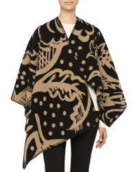 Burberry Prorsum - Thistle Motif Blanket Poncho - Lyst