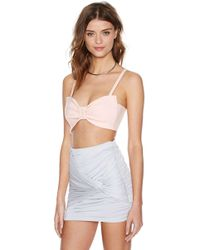 Nasty Gal Bow Out Bustier - Lyst