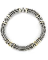 David Yurman Pre-owned 18ky  Sterling Silver Cord 16 Necklace - Lyst
