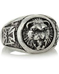 TOPMAN - Lion Engraved Ring - Lyst