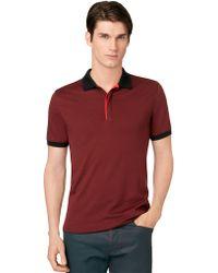 Calvin Klein Pima Colorblock Polo Shirt - Lyst