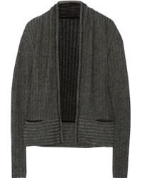 The Elder Statesman Ribbed Cashmere Cardigan - Lyst