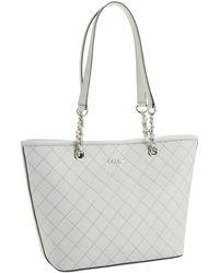 Calvin Klein Key Item Saffiano Leather Tote Bag - Lyst