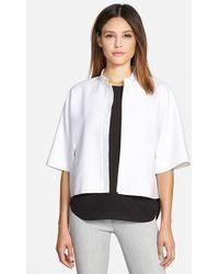 Classiques Entier Short-Sleeved Crop Jacket - Lyst