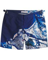 Orlebar Brown Bulldog Shorts blue - Lyst