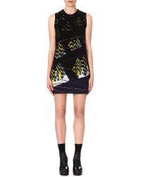 Kenzo Twin Peak Jacquard Knit Dress Black - Lyst