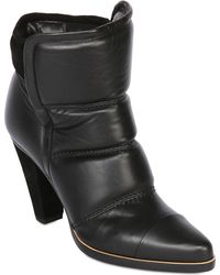Chloé 90mm Calf Leather Padded Ankle Boots - Lyst