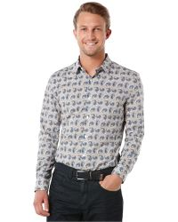 Perry Ellis Paisley Print Shirt - Lyst