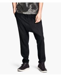 H&M Trousers in A Linen Blend - Lyst