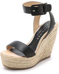 Paloma Barceló Platform Wedge Espadrille Sandals - Black - Lyst