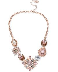 Betsey Johnson Faceted Bead Frontal Necklace - Lyst