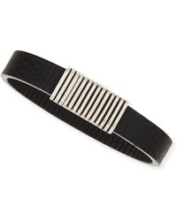 John Hardy Mens Bedeg Linear Stripe Leather Bracelet - Lyst