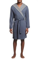 Bread & Boxers - Hooded Thermal Cotton Blend Robe - Lyst