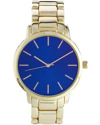 Asos Large Face Color Dial Bracelet Watch - Lyst