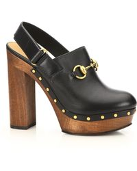 Gucci | Amstel Leather Clogs | Lyst