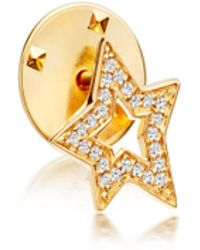Astley Clarke - Gold-plated Star Biography Pin - Lyst