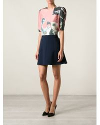 Carven Printed Blouse - Lyst