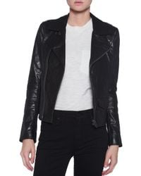 June Classic Leather Jacket - Lyst
