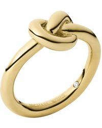 Michael Kors Gold-Tone Knot Ring - Lyst