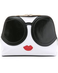 Alice + Olivia - Alice + Olivia Stacey Face Cosmetic Case - Black/White - Lyst