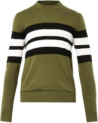 Jonathan Saunders Collegestripe Sweater - Lyst