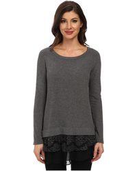 Karen Kane Lace Inset Sweater - Lyst