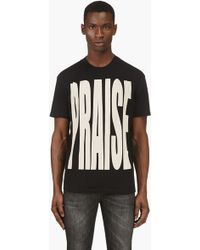 Diesel Black Short Sleeve Praise T_shirt - Lyst