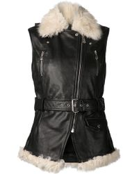 McQ by Alexander McQueen Shearling Leather Vest - Lyst