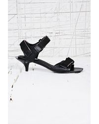 Cheap Monday Kitten Velcro Sandals in Black - Lyst