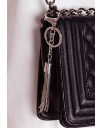 Missguided - Tassel Key Ring Silver - Lyst