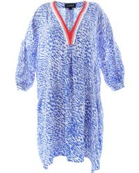 Saloni Zadie Embroidered Neck Kaftan - Lyst