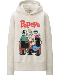 Uniqlo Women Popeye Long Sleeve Sweat Pullover Hoodie - Lyst