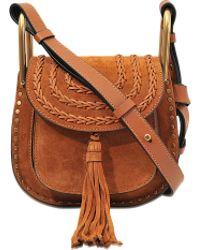 chloe wallets and purses - chloe hudson mini suede cross-body bag, blue chloe bag