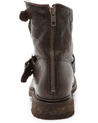 Frye - Valerie Shearling Lined Boots - Dark Brown - Lyst