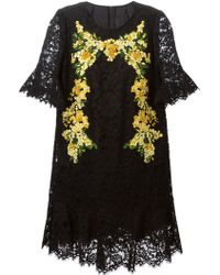 Dolce & Gabbana Acacia Embroidered Lace Dress - Lyst