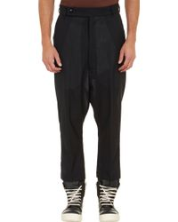 Rick Owens Astaire Cropped Trousers - Lyst