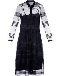 Burberry Prorsum Pintucked Cotton-Tulle Shirtdress - Lyst
