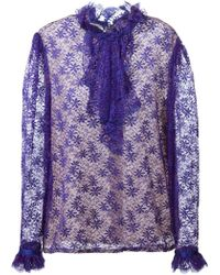 Guy Laroche - Ruffled Lace Shirt - Lyst